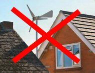 Don't install a wind turbine like this...