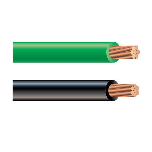 Black & green wire