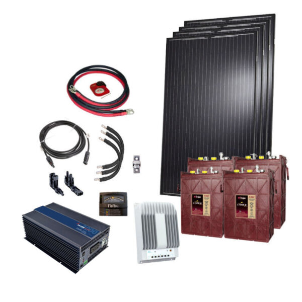 4 Panel Cottage Kit & 3kW Inverter