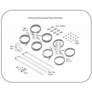 Primus 45 Feet Tower Kit parts